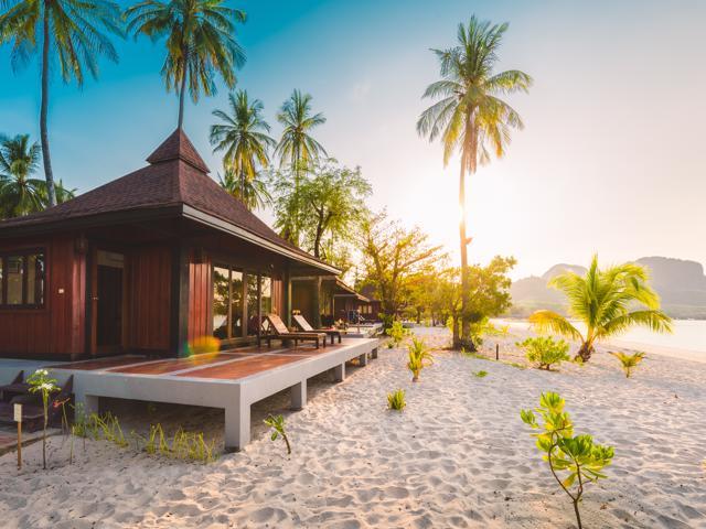 Ko Muk (Ko Mook), Trang Province, Thailand. Beachfront bungalows (PR).